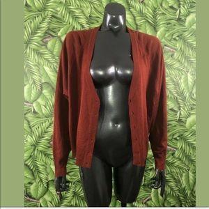 Zara Sienna Orange Open Front Cardigan Sweater